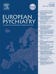 European Psychiatry Volume 21 - Issue 7 -