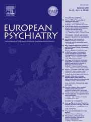 European Psychiatry Volume 23 - Issue 6 -