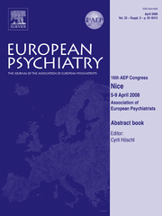 European Psychiatry Volume 23 - Issue S2 -  16th AEP Congress - Abstract book - 16th AEP Congress