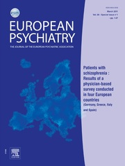 European Psychiatry Volume 26 - Issue S2 -  Abstracts of the 19th European Congress of Psychiatry
