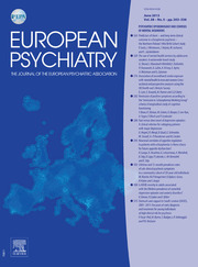 European Psychiatry Volume 28 - Issue 5 -