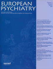 European Psychiatry Volume 11 - Issue 2 -