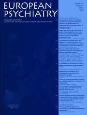 European Psychiatry Volume 12 - Issue 3 -
