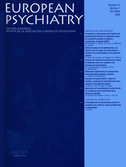 European Psychiatry Volume 12 - Issue 7 -