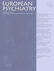 European Psychiatry Volume 12 - Issue 8 -