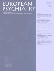European Psychiatry Volume 13 - Issue 2 -
