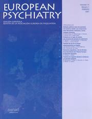 European Psychiatry Volume 14 - Issue 1 -