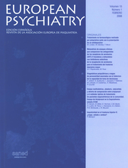 European Psychiatry Volume 15 - Issue 1 -