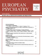 European Psychiatry Volume 2 - Issue 4 -