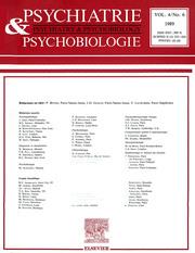 European Psychiatry Volume 4 - Issue 6 -