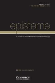 Episteme Volume 10 - Issue 1 -