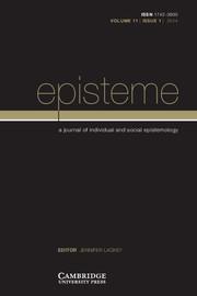 Episteme Volume 11 - Issue 1 -