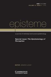 Episteme Volume 13 - Special Issue1 -  The Epistemology of Perception