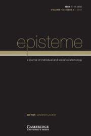 Episteme Volume 13 - Issue 2 -