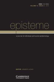 Episteme Volume 13 - Issue 3 -
