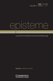 Episteme Volume 14 - Issue 1 -
