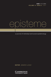 Episteme Volume 14 - Issue 2 -