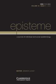 Episteme Volume 15 - Issue 1 -