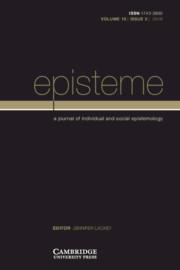 Episteme Volume 15 - Issue 2 -