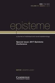 Episteme Volume 15 - Special Issue3 -  2017 Episteme Conference