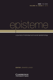 Episteme Volume 15 - Issue 4 -