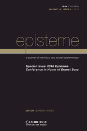 Episteme Volume 16 - Special Issue4 -  2018 Episteme Conference in Honor of Ernest Sosa
