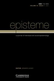 Episteme Volume 18 - Issue 1 -