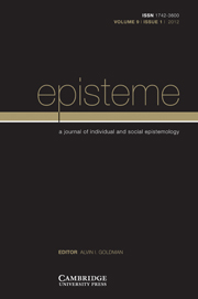 Episteme Volume 9 - Issue 1 -