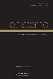 Episteme Volume 9 - Issue 4 -