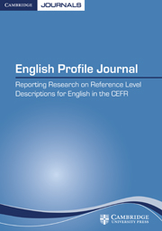 English Profile Journal Volume 1 - Issue 1 -
