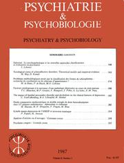 European Psychiatry Volume 2 - Issue 3 -