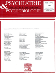 European Psychiatry Volume 5 - Issue 2 -