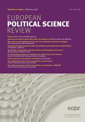 European Political Science Review Volume 10 - Issue 1 -