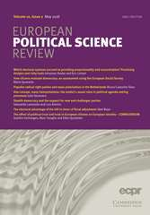 European Political Science Review Volume 10 - Issue 2 -