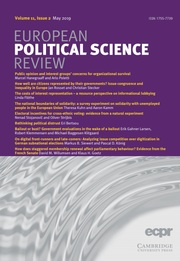 European Political Science Review Volume 11 - Issue 2 -