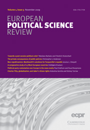 European Political Science Review Volume 1 - Issue 3 -