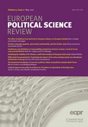 European Political Science Review Volume 9 - Issue 2 -