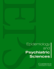 Epidemiology and Psychiatric Sciences