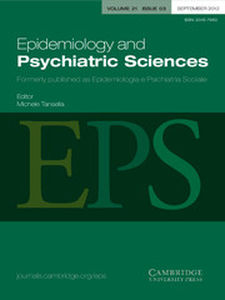Epidemiology and Psychiatric Sciences Volume 21 - Issue 3 -