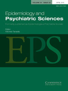 Epidemiology and Psychiatric Sciences Volume 24 - Issue 2 -