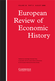 European Review of Economic History Volume 12 - Issue 2 -