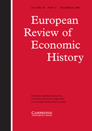 European Review of Economic History Volume 15 - Issue 3 -