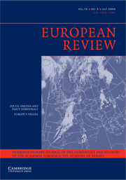 European Review Volume 16 - Issue 3 -  The State of the Parties– Party Democracy in the 21st Century