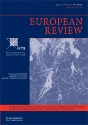 European Review Volume 17 - Issue 2 -