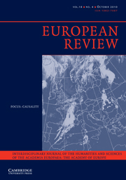 European Review Volume 18 - Issue 4 -