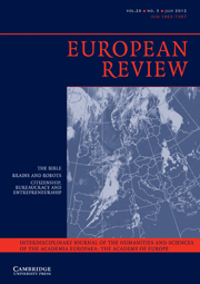 European Review Volume 20 - Issue 3 -