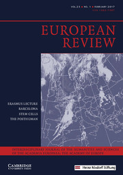 European Review Volume 25 - Issue 1 -
