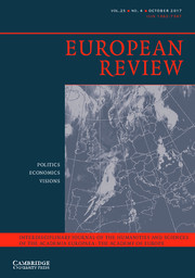 European Review Volume 25 - Issue 4 -