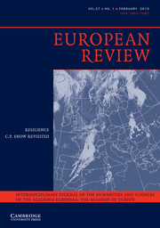 European Review Volume 27 - Issue 1 -