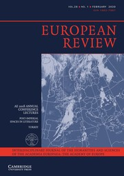 European Review Volume 28 - Issue 1 -